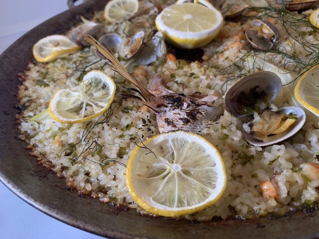 真鯛とレモンのパエリャ