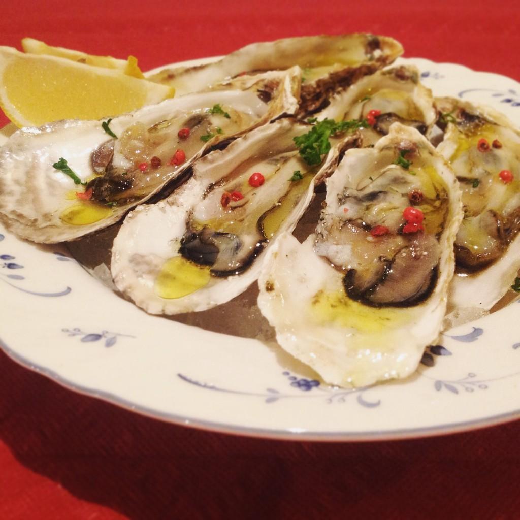 半生の牡蠣