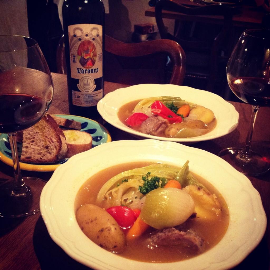 葡萄酒とスープ