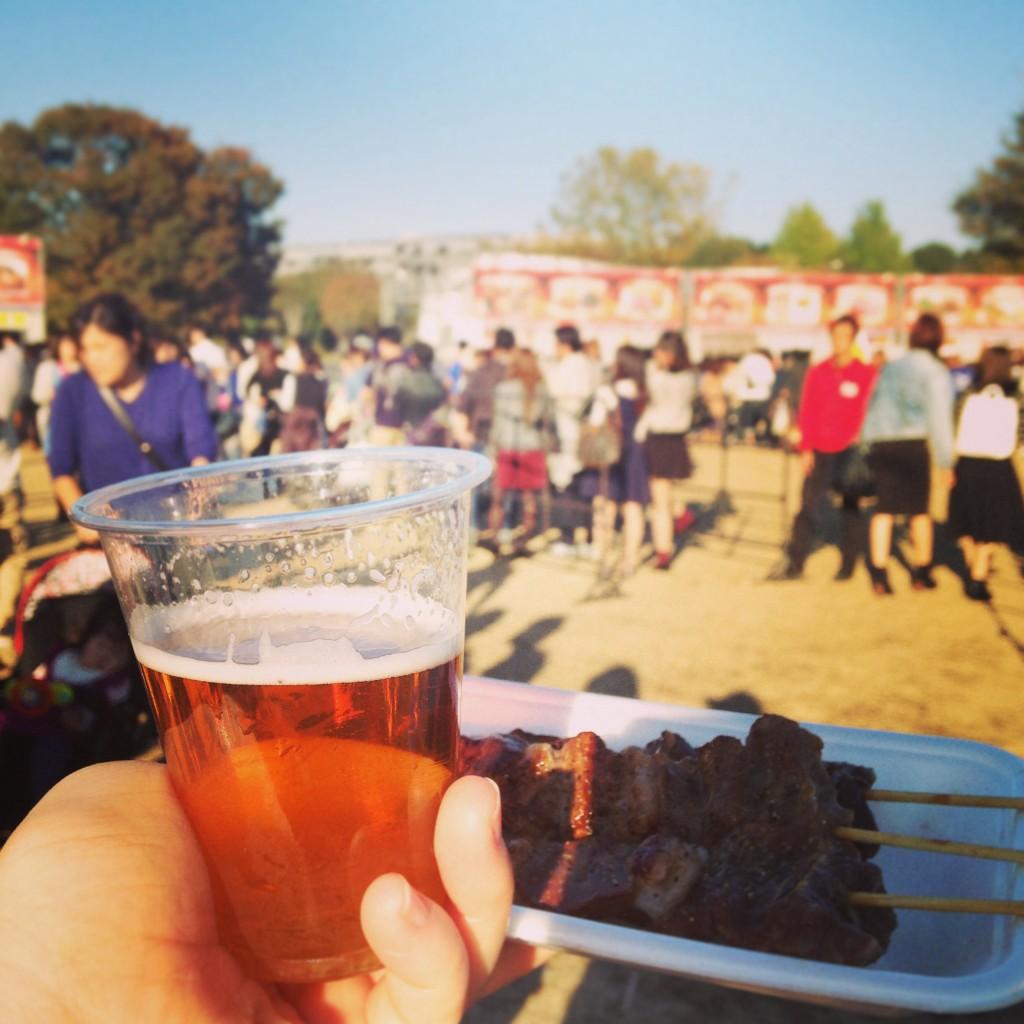 肉フェス 仔馬串 地ビール