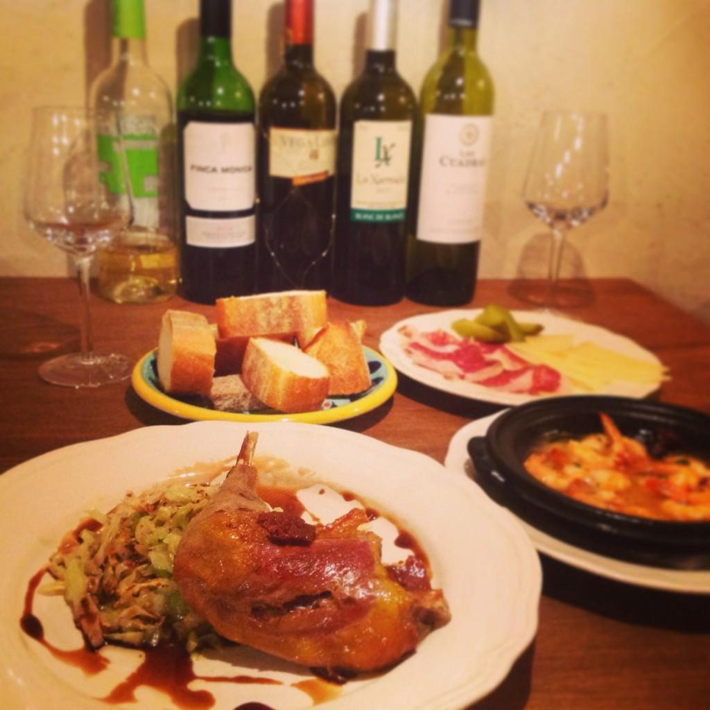 スペインタパス ワイン