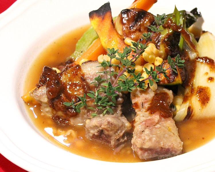 イノシシ肉 スープ仕立て