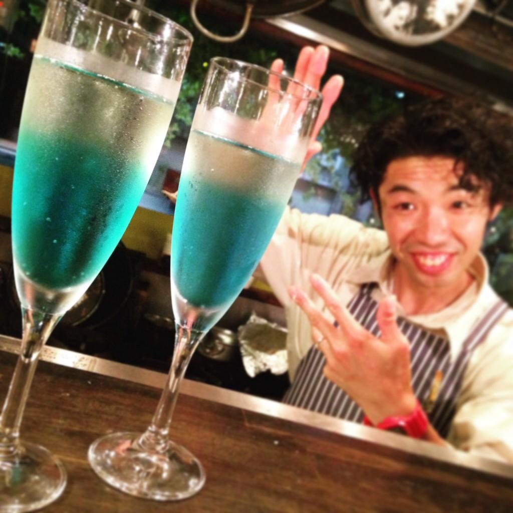 高円寺 阿波踊り 青い泡