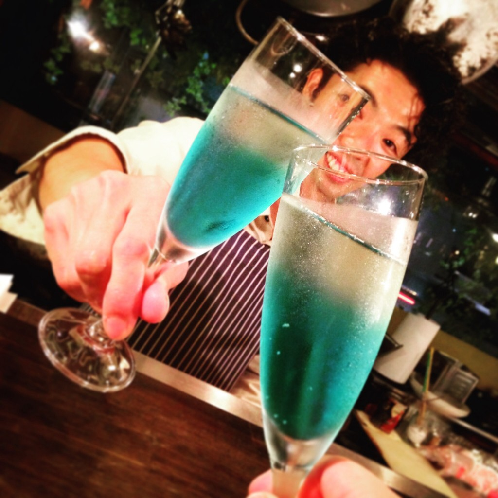 青 スパークリングワイン